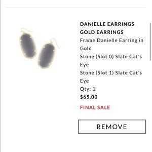 Kendra Scott Gray Danielle Earrings Slate Gray